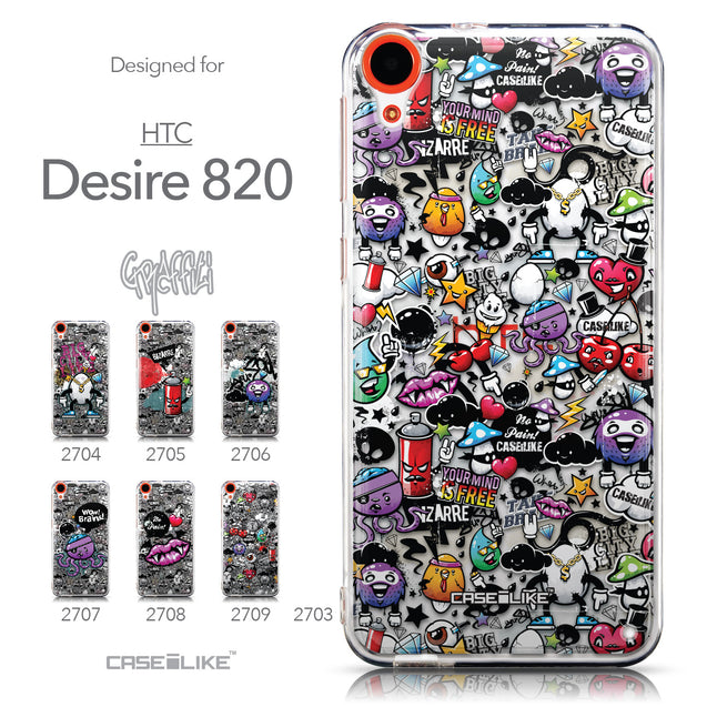 Collection - CASEiLIKE HTC Desire 820 back cover Graffiti 2703