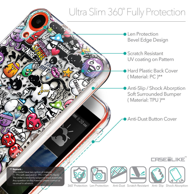 Details in English - CASEiLIKE HTC Desire 820 back cover Graffiti 2703