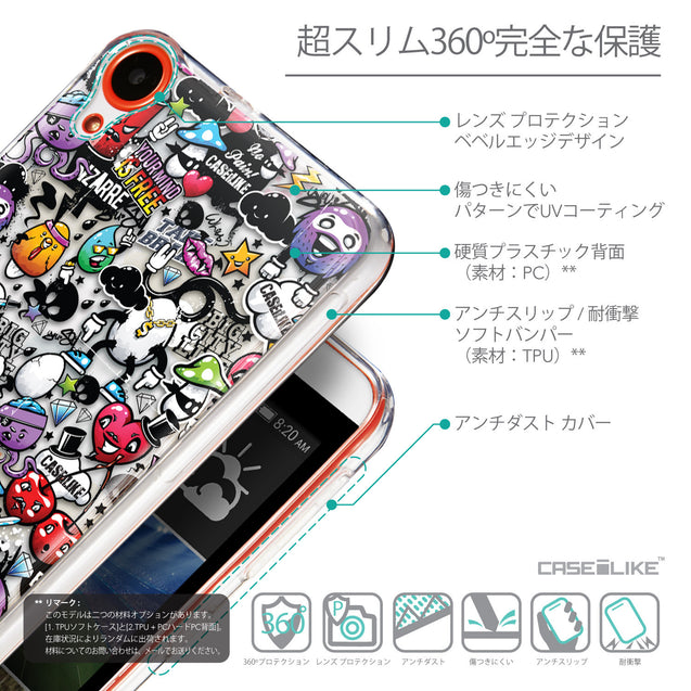 Details in Japanese - CASEiLIKE HTC Desire 820 back cover Graffiti 2703