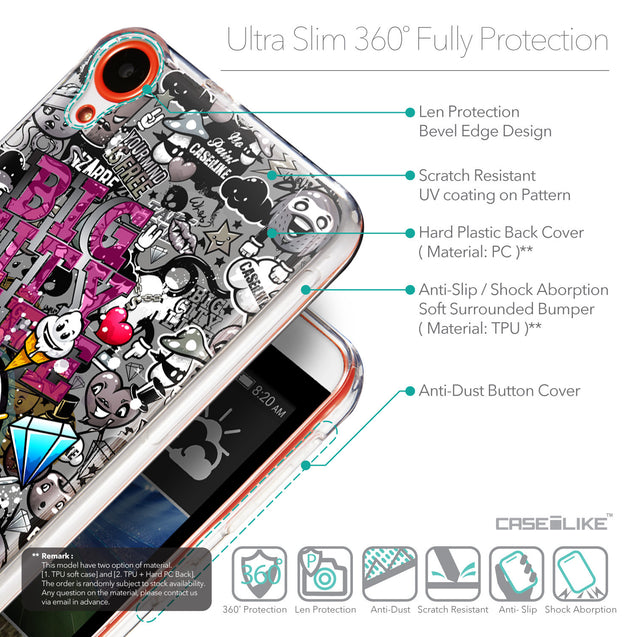 Details in English - CASEiLIKE HTC Desire 820 back cover Graffiti 2704