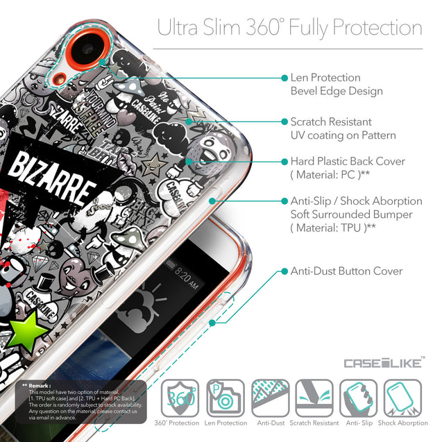 Details in English - CASEiLIKE HTC Desire 820 back cover Graffiti 2705
