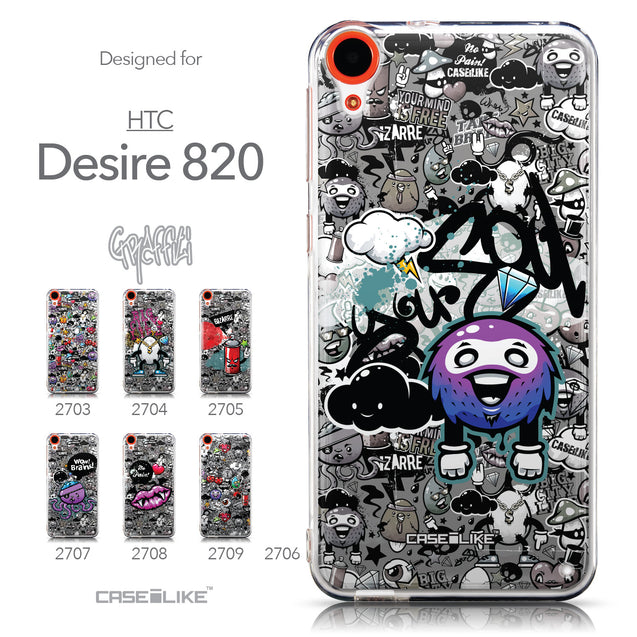 Collection - CASEiLIKE HTC Desire 820 back cover Graffiti 2706