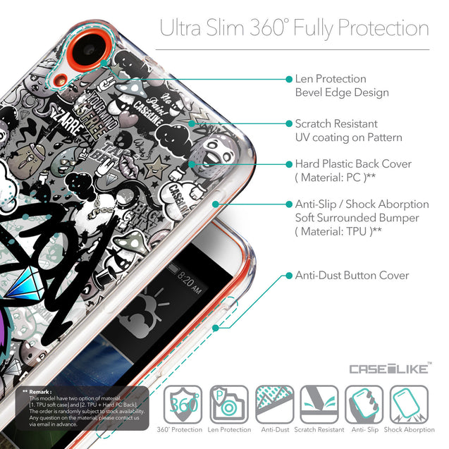 Details in English - CASEiLIKE HTC Desire 820 back cover Graffiti 2706