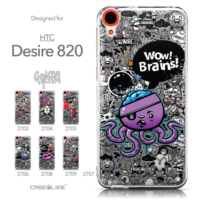 Collection - CASEiLIKE HTC Desire 820 back cover Graffiti 2707