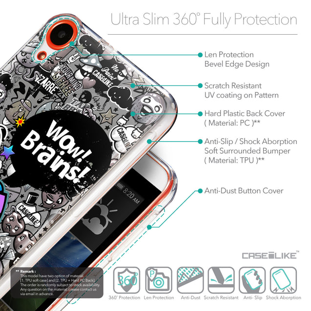 Details in English - CASEiLIKE HTC Desire 820 back cover Graffiti 2707