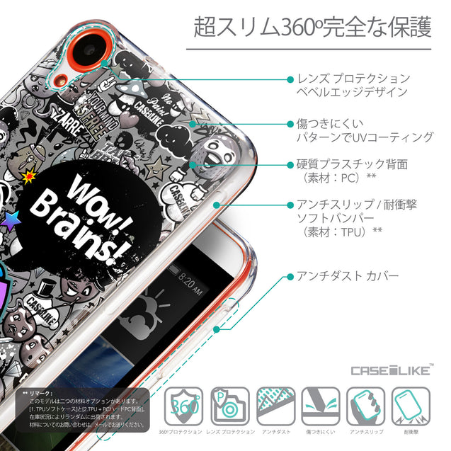 Details in Japanese - CASEiLIKE HTC Desire 820 back cover Graffiti 2707