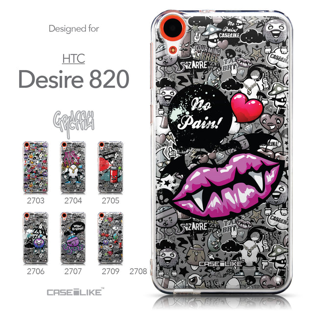 Collection - CASEiLIKE HTC Desire 820 back cover Graffiti 2708