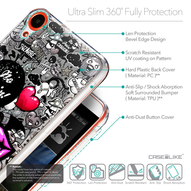 Details in English - CASEiLIKE HTC Desire 820 back cover Graffiti 2708