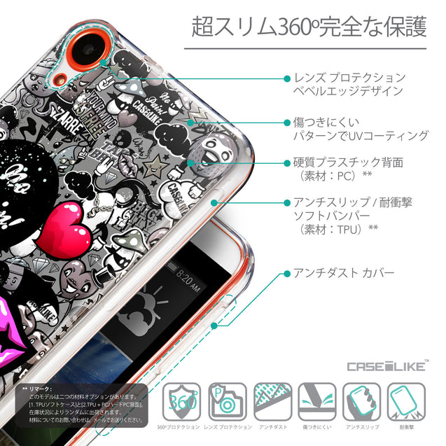 Details in Japanese - CASEiLIKE HTC Desire 820 back cover Graffiti 2708