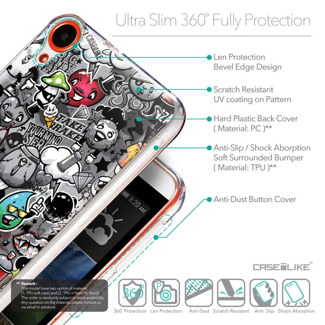 Details in English - CASEiLIKE HTC Desire 820 back cover Graffiti 2709