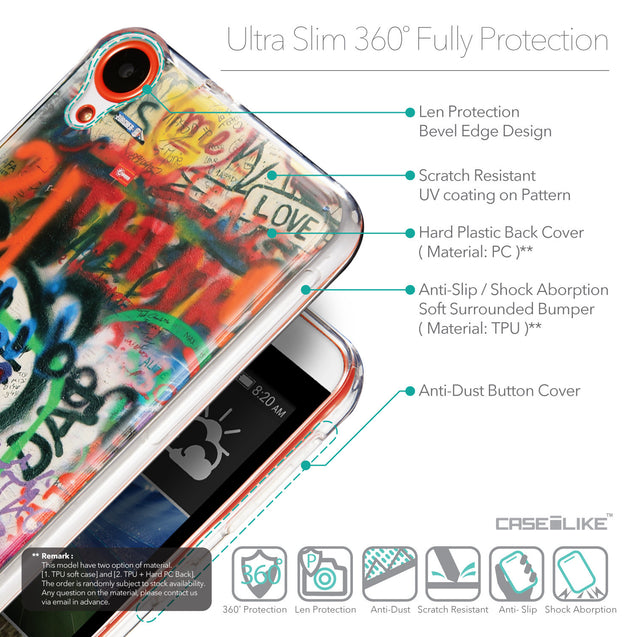 Details in English - CASEiLIKE HTC Desire 820 back cover Graffiti 2721
