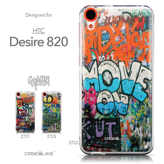 Collection - CASEiLIKE HTC Desire 820 back cover Graffiti 2722