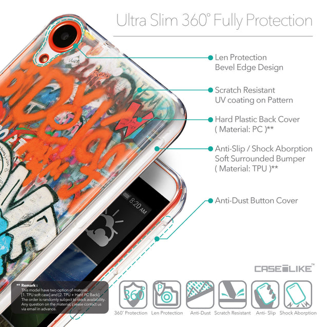 Details in English - CASEiLIKE HTC Desire 820 back cover Graffiti 2722
