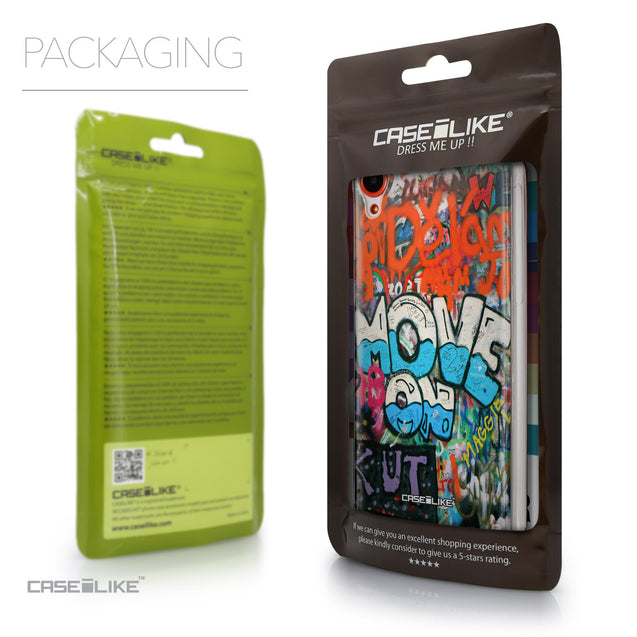 Packaging - CASEiLIKE HTC Desire 820 back cover Graffiti 2722