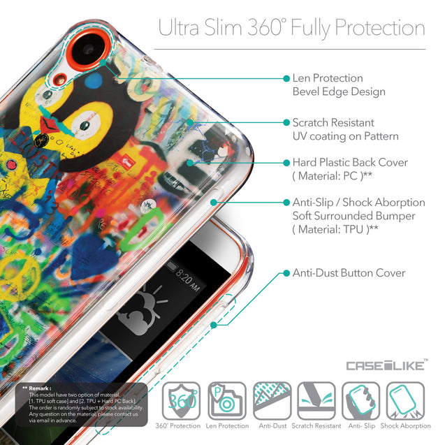 Details in English - CASEiLIKE HTC Desire 820 back cover Graffiti 2723