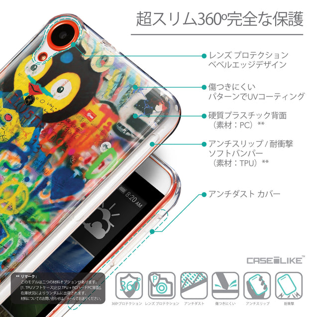 Details in Japanese - CASEiLIKE HTC Desire 820 back cover Graffiti 2723