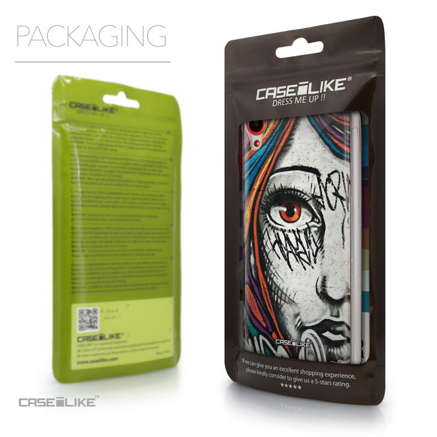 Packaging - CASEiLIKE HTC Desire 820 back cover Graffiti Girl 2724