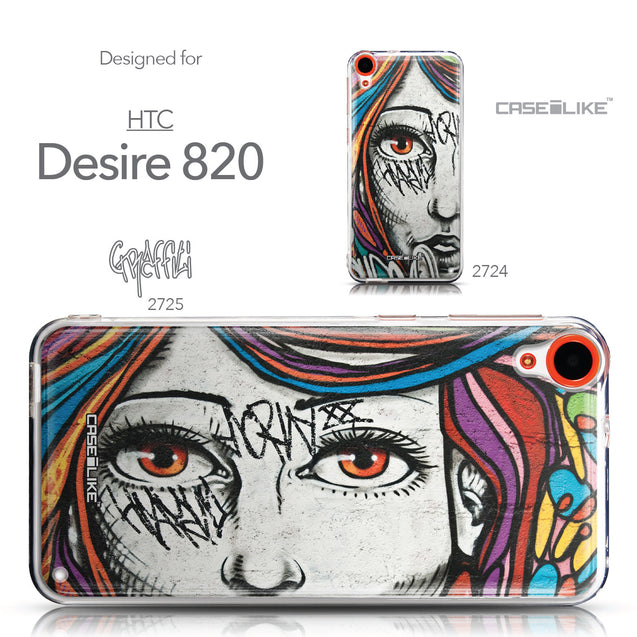 Collection - CASEiLIKE HTC Desire 820 back cover Graffiti Girl 2725