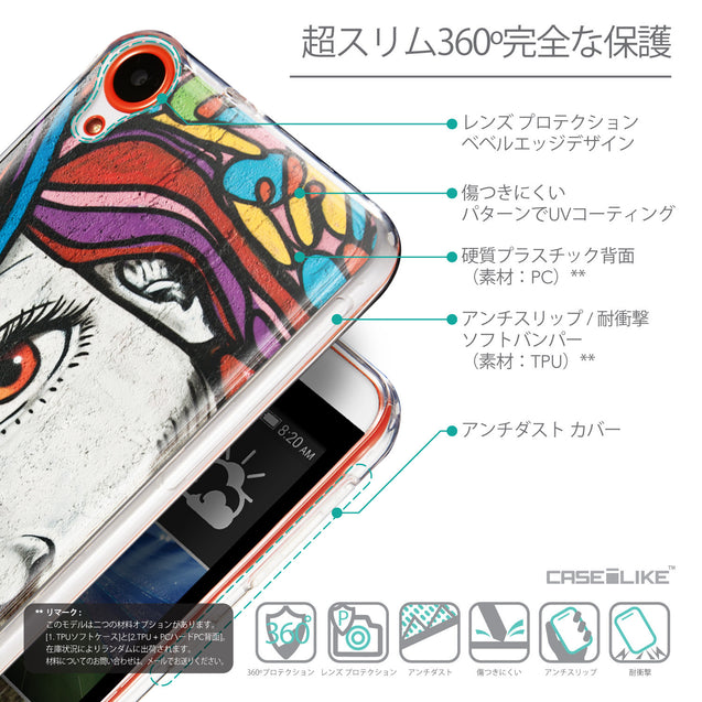 Details in Japanese - CASEiLIKE HTC Desire 820 back cover Graffiti Girl 2725