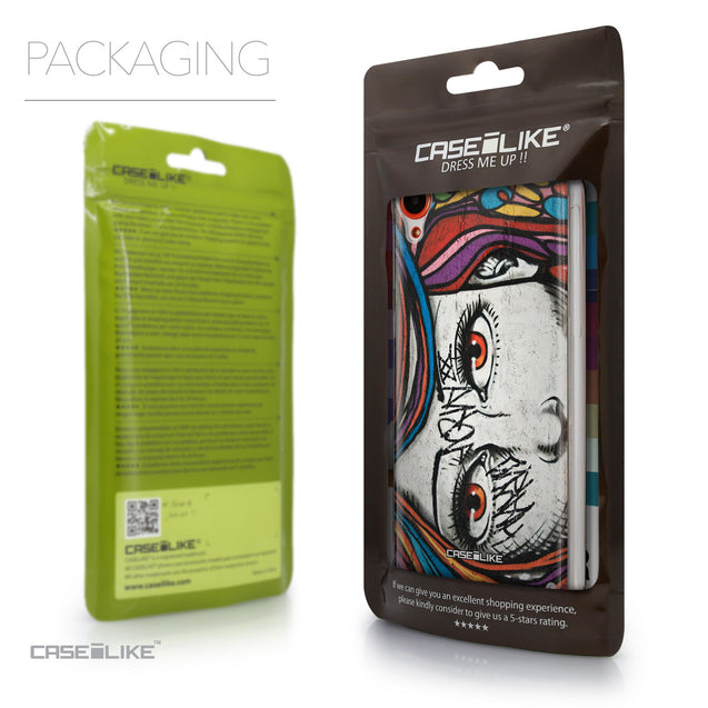 Packaging - CASEiLIKE HTC Desire 820 back cover Graffiti Girl 2725