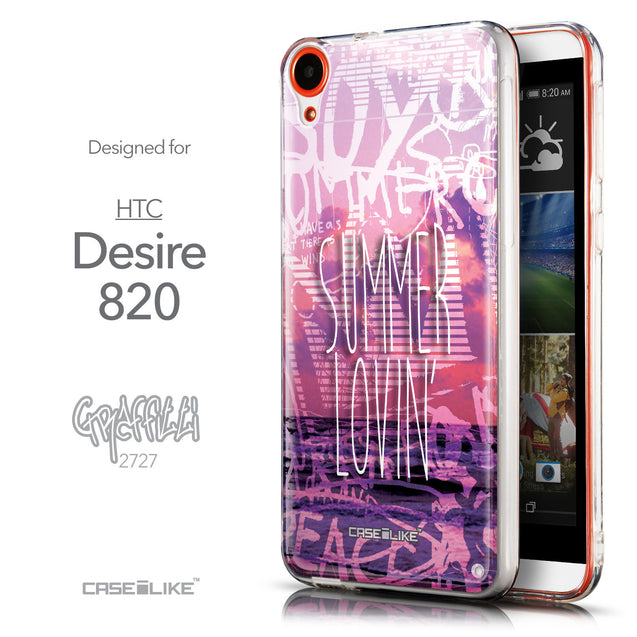 Front & Side View - CASEiLIKE HTC Desire 820 back cover Graffiti 2727