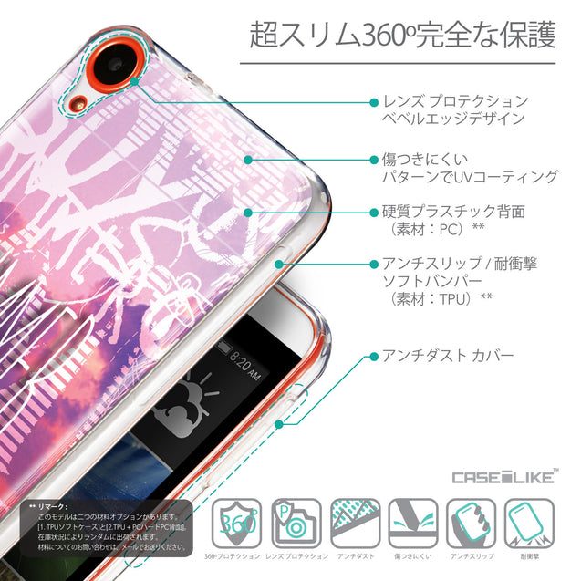 Details in Japanese - CASEiLIKE HTC Desire 820 back cover Graffiti 2727