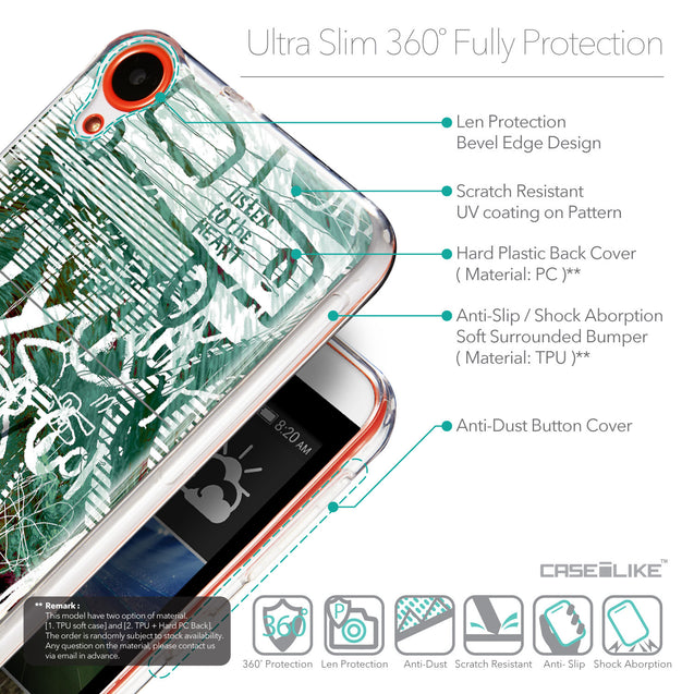 Details in English - CASEiLIKE HTC Desire 820 back cover Graffiti 2728