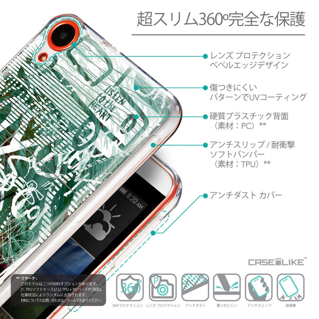 Details in Japanese - CASEiLIKE HTC Desire 820 back cover Graffiti 2728