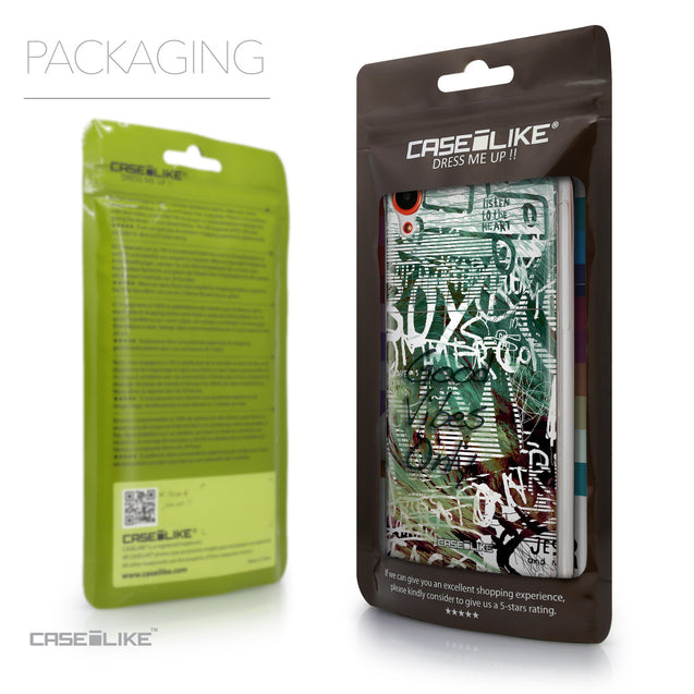 Packaging - CASEiLIKE HTC Desire 820 back cover Graffiti 2728