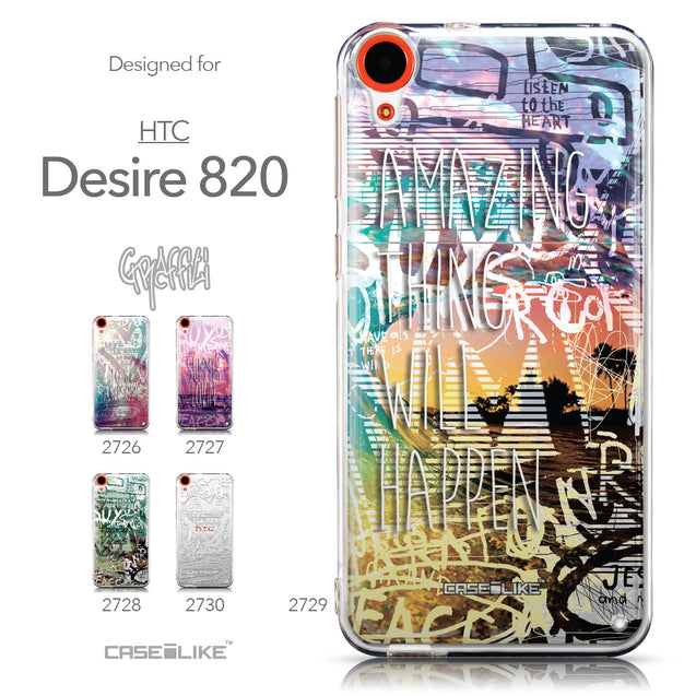 Collection - CASEiLIKE HTC Desire 820 back cover Graffiti 2729