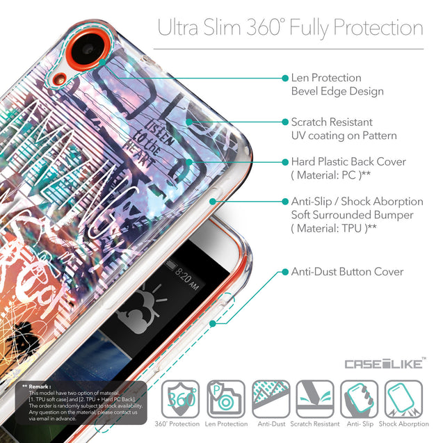 Details in English - CASEiLIKE HTC Desire 820 back cover Graffiti 2729
