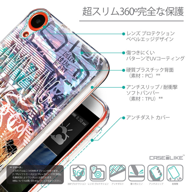 Details in Japanese - CASEiLIKE HTC Desire 820 back cover Graffiti 2729