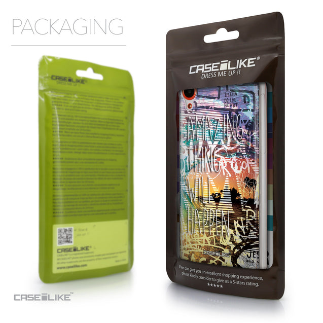 Packaging - CASEiLIKE HTC Desire 820 back cover Graffiti 2729