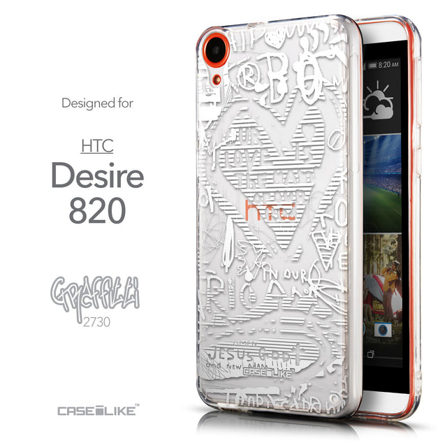 Front & Side View - CASEiLIKE HTC Desire 820 back cover Graffiti 2730