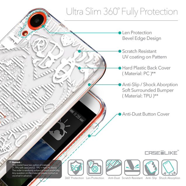 Details in English - CASEiLIKE HTC Desire 820 back cover Graffiti 2730