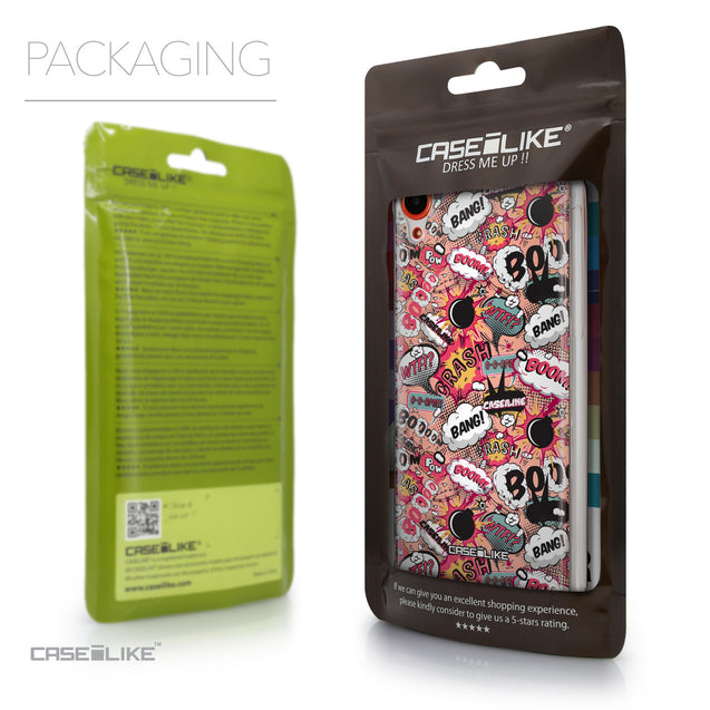 Packaging - CASEiLIKE HTC Desire 820 back cover Comic Captions Pink 2912