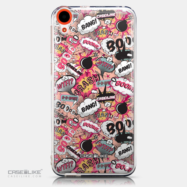 CASEiLIKE HTC Desire 820 back cover Comic Captions Pink 2912