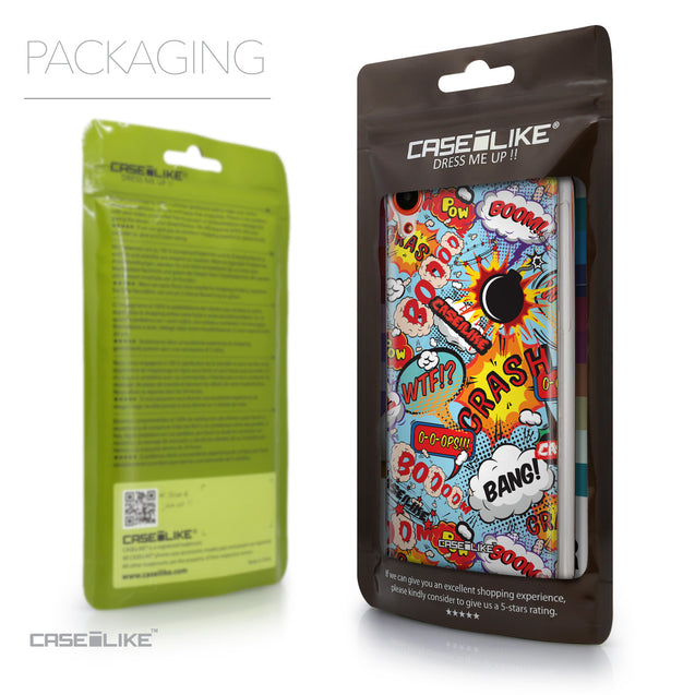 Packaging - CASEiLIKE HTC Desire 820 back cover Comic Captions Blue 2913