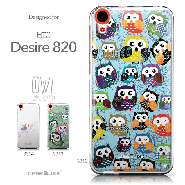 Collection - CASEiLIKE HTC Desire 820 back cover Owl Graphic Design 3312