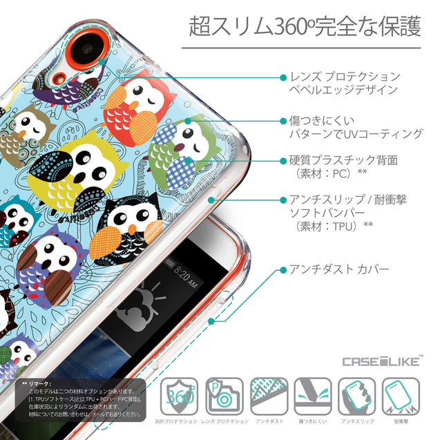 Details in Japanese - CASEiLIKE HTC Desire 820 back cover Owl Graphic Design 3312