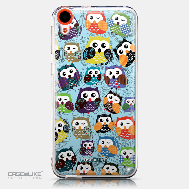 CASEiLIKE HTC Desire 820 back cover Owl Graphic Design 3312