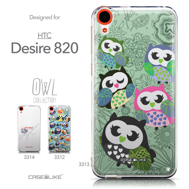 Collection - CASEiLIKE HTC Desire 820 back cover Owl Graphic Design 3313