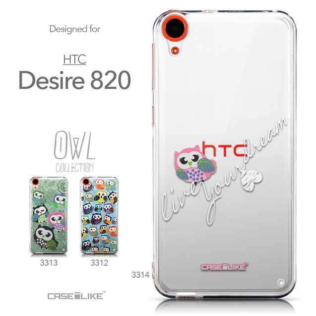 Collection - CASEiLIKE HTC Desire 820 back cover Owl Graphic Design 3314