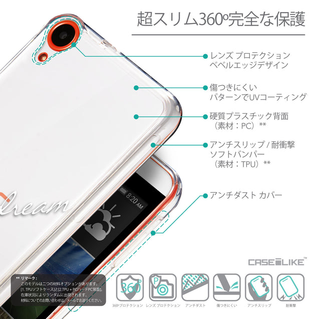 Details in Japanese - CASEiLIKE HTC Desire 820 back cover Owl Graphic Design 3314
