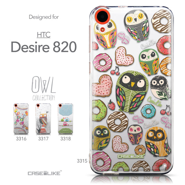 Collection - CASEiLIKE HTC Desire 820 back cover Owl Graphic Design 3315
