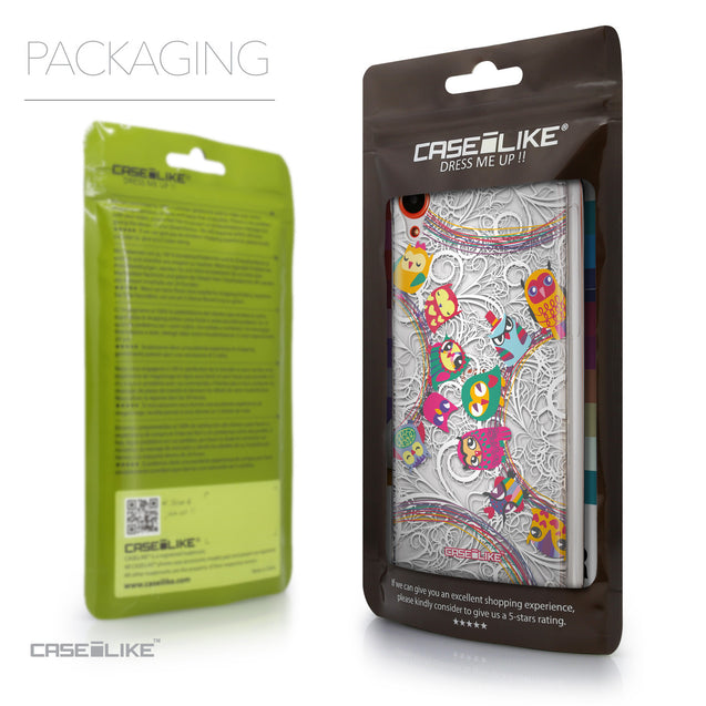Packaging - CASEiLIKE HTC Desire 820 back cover Owl Graphic Design 3316