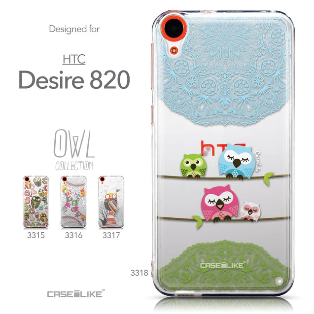 Collection - CASEiLIKE HTC Desire 820 back cover Owl Graphic Design 3318