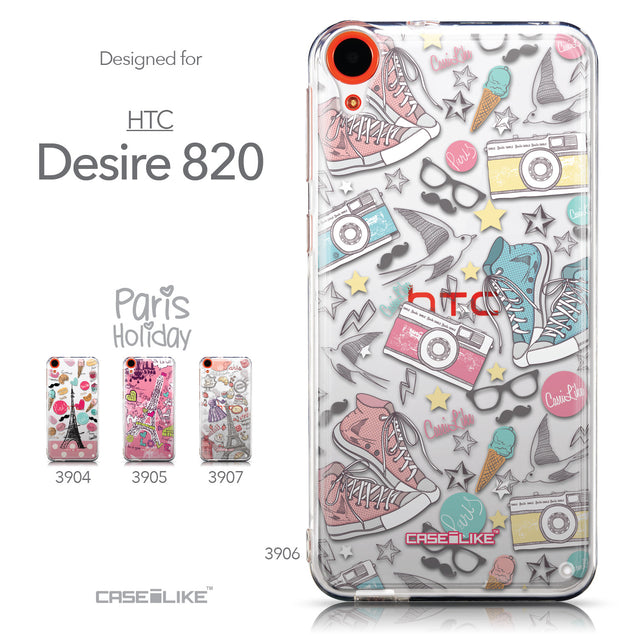 Collection - CASEiLIKE HTC Desire 820 back cover Paris Holiday 3906