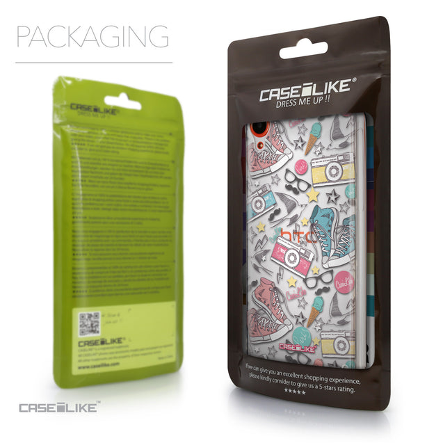 Packaging - CASEiLIKE HTC Desire 820 back cover Paris Holiday 3906