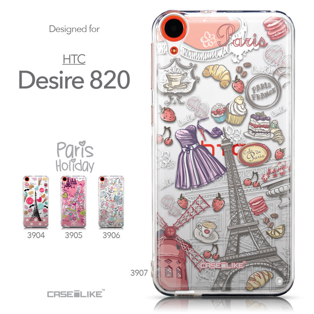 Collection - CASEiLIKE HTC Desire 820 back cover Paris Holiday 3907